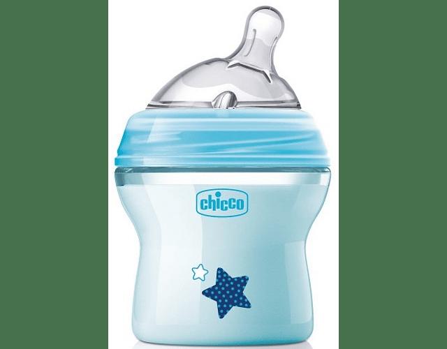 Chicco Biberão Natural Feeling +0 meses 150 mL Azul