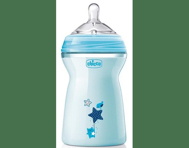 Chicco Biberão NaturalFeeling +6 meses Azul