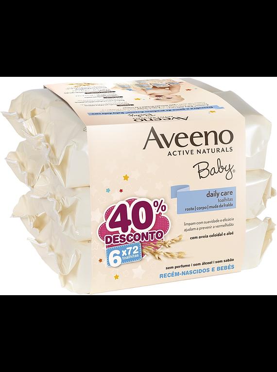 Aveeno Baby Toalhitas 6 x 72 unidades