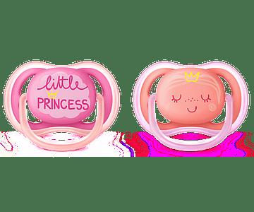 Philips Avent Chupetas Ultra Air 6-18 meses Princesa 2 Unidades