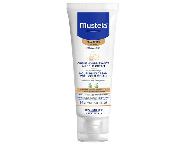 Mustela Bebé Pele Seca Cold Cream Rosto 40 mL