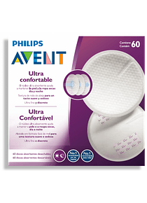 Philips Avent Discos Descartáveis 60 unidades + Creme Protetor de Mamilos (OFERTA)