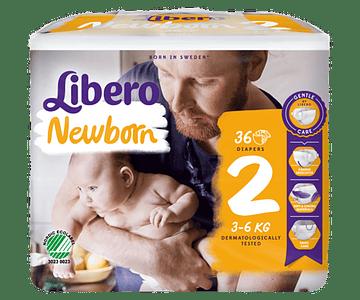 Libero Fralda Newborn (T2) x 12         (6.70€/pacote)