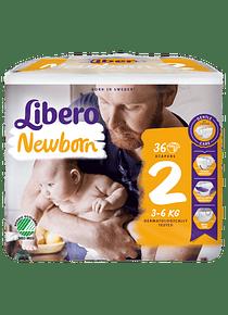 Libero Fralda Newborn (T2) x 6         (7.02€/pacote)