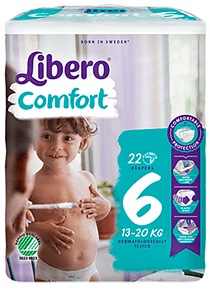 Libero Fralda Confort (T6) x 8      (5€/pacote)