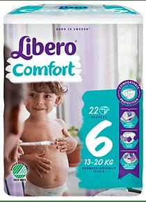 Libero Fralda Comfort (T6) x 8      (5€/pacote)
