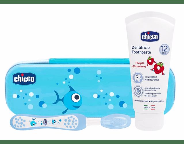 Chicco Estojo Higiene Oral +12 meses Azul