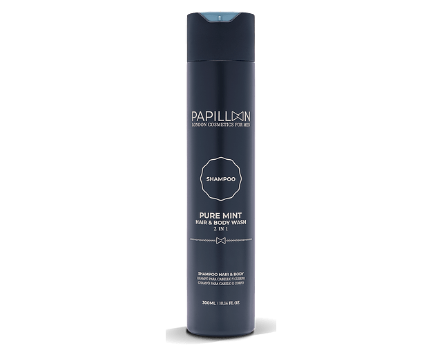 Papillon Pure Mint Champô de Cabelo e Barba 300 mL