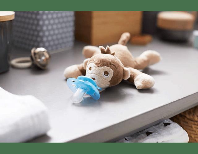 Philips Avent Snuggle + Chupeta 0-6 meses Azul Macaco