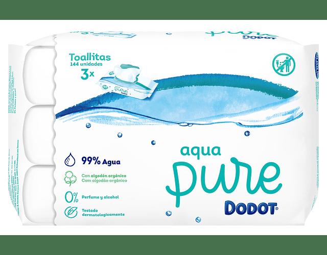 Dodot Toalhitas Aqua Pure 3 x 48 unidades