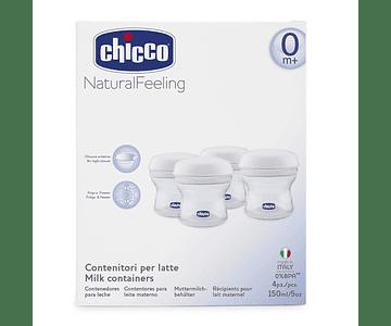 Chicco NaturalFeeling Recipiente Multiusos 4 unidades