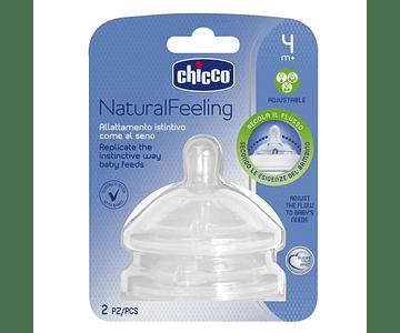 Chicco NaturalFeeling Tetina Fluxo Regulável 4m+