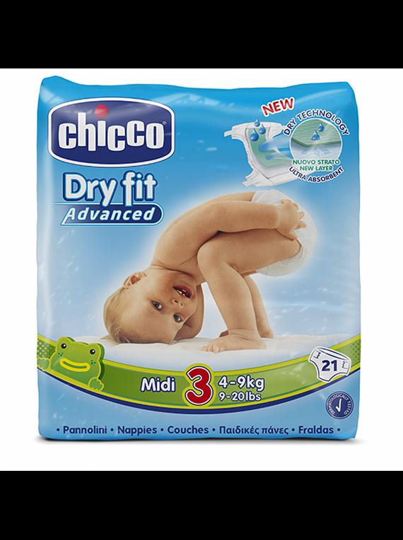 Chicco Fraldas Dry Fit Advanced T3 4-9kg