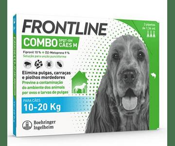 Frontline Combo Cão 10-20kg 1,34 mL x 3 pipetas
