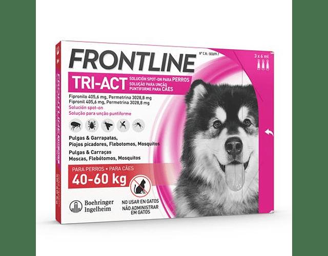 Frontline Tri-Act Cão 40-60kg 6 mL x 3 pipetas