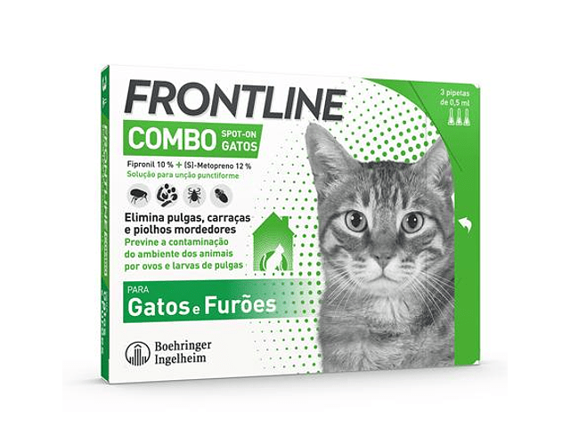 Frontline Combo Spot-On Gato 0,5 mL x 3 pipetas