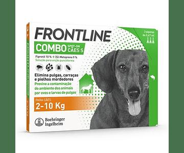 Frontline Combo Cão 2-10kg 0,67 mL x 3 pipetas