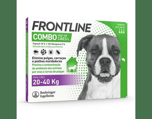 Frontline Combo Cão 20-40kg 2,68 mL x 3 pipetas