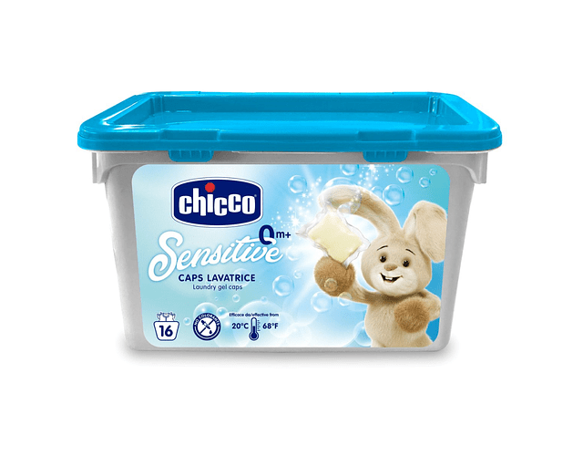 Chicco Higiene Detergente Roupa 16 Cápsulas 0M+