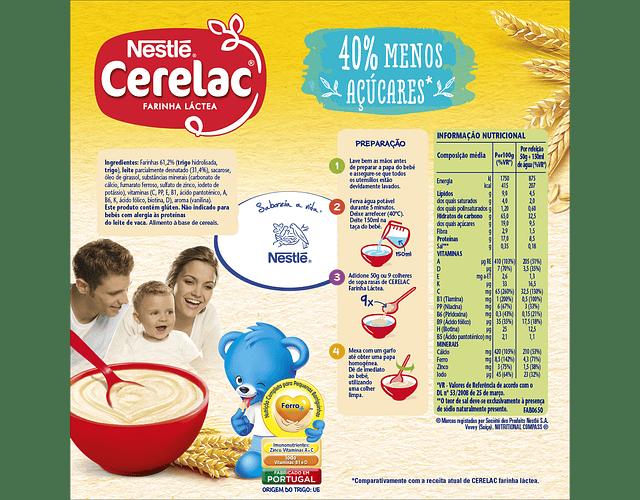 Cerelac Farinha Láctea -40% Açúcares 250g