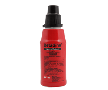 Betadine, 40 mg/mL-125mL x 1 esp cutânea