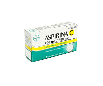 Aspirina C, 400/240 mg x 10 comp efervescentes