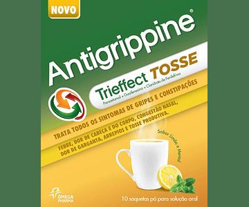 Antigrippine Trieffect Tosse, 500/10/200 mg x 10 pó sol oral saq