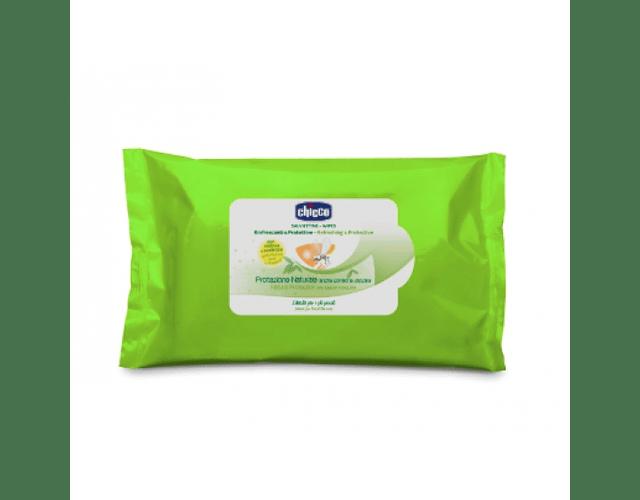 Chicco Toalhitas Refrescantes e Protetoras Anti-Mosquito 20 unidades