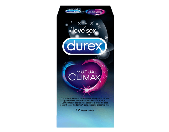 Durex Preservativo Mutual Climax x 12 unidades