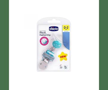 Chicco Pack Physio Micro Chupeta Silicone + Fashion Clip Menino 0-2M