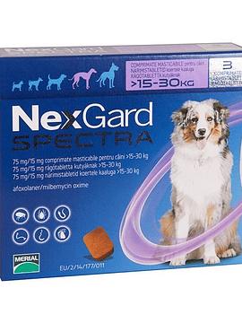 NexGard Spectra 3 Comprimidos Mastigáveis para Cães  >15-30 Kg