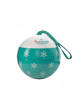 Puressentiel Bola de Natal verde com Difusor medalhão em cerâmica + Óleo essencial de eucalipto radiata 10 ml com