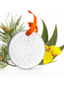 Puressentiel Kit Difusão Natal Mistura Relaxamento Óleos essenciais 30ml +  Oferta Difusor medalhão em cerâmica