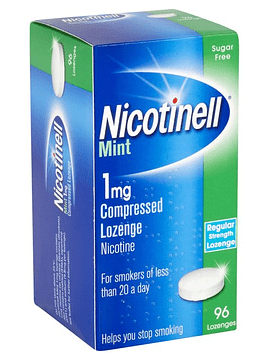 Nicotinell Mint, 1 mg x 96 pastilhas