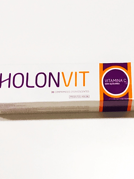 HolonVit Vitamina C sem Açucar x 20 Comprimidos Efervescentes