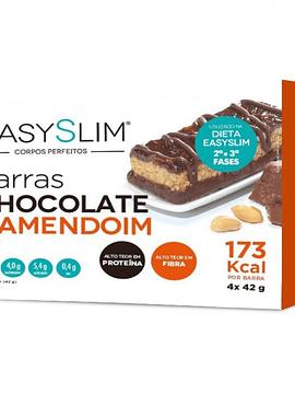 EasySlim Barras Chocolate e Amendoim 4 x 42 Gramas