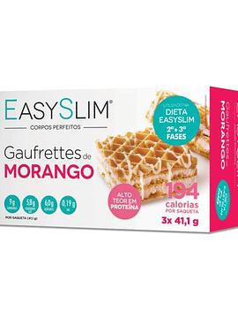 EasySlim Gaufrettes de Morango 3 x 41,1 Gramas