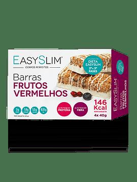 EasySlim Barras Frutos Vermelhos 4 x 40 Gramas