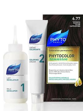 Phyto Phytocolor Sensitive. Coloração Permanente Cor 6.77 Cappuccino