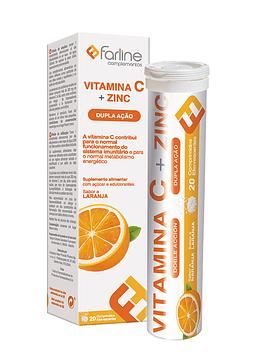 Farline Vitamina C + Zinc x20 Comprimidos Efervescentes