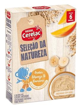 Nestlé Cerelac Cereais Integral Aveia+Manga+Banana 6m+ 250 G