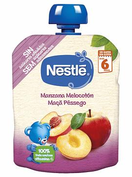 Nestlé Pacotinho Maça+Pêssego 6m+  90G