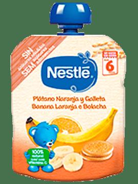 Nestlé Pacotinho Banana+Laranja+Bolacha 6m+   90G