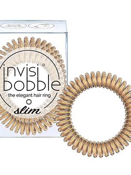 Invisibobble Slim Elástico Cabelo Gold x3 Unidades