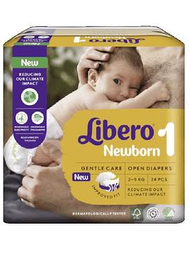 Libero Newborn Tam 1 Fraldas 2-5kg - 1 Embalagem (24 unidades)