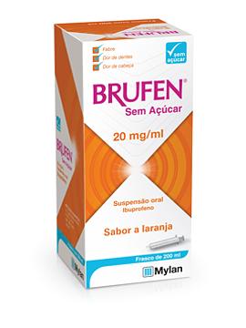 Brufen Sem Açúcar, 20 mg/mL-200mL x 1 suspensão oral mL