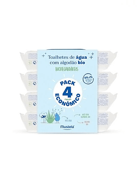 Mustela Bebé Toalhetes Limpeza 4x60 Unidades