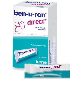Ben-u-ron direct, 500 mg x10 Saquetas granulado