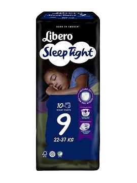 Libero 9 Sleep Tight Cuecas Absorventes para Noite 22-37 Kg