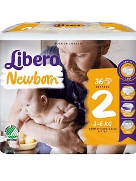 Libero 2 Newborn Fraldas  3-6Kg 34 Unidades